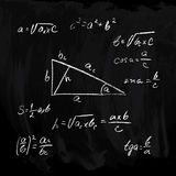 Rectangular triangle formulas Stock Photography