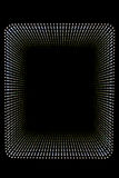 Rectangular tunnel  leading to black hole. Abstract background created by rectangular space  outlining   a tunnel defined by short dotted lines and then leading Stock Images
