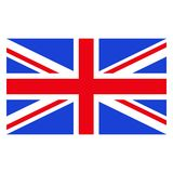 English flag color. Rectangular vector flag of Great Britain. State symbol of United Kingdom. Objects isolated on white background Royalty Free Stock Photo