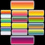 Rectangular Web Buttons Royalty Free Stock Photos