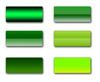 Rectangular web buttons. A set of rectangular web buttons in different shades of green