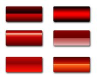 Rectangular web buttons Royalty Free Stock Image