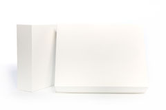 Rectangular white boxes on white background Royalty Free Stock Photos