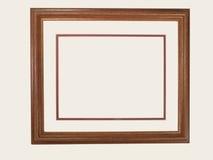 Rectangular Wood Frame. Rectangular Wooden Frame with matte border stock photo
