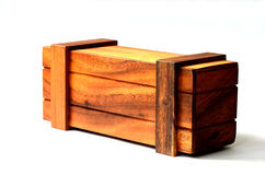 Rectangular wooden box. Royalty Free Stock Images