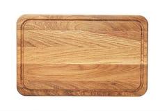 Rectangular wooden cutting board. New rectangular wooden cutting board, top view, isolated Stock Photo