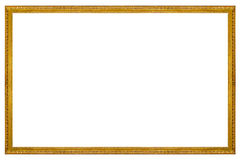 Rectangular Wooden Gilded Frame Stock Photos