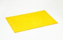 Rectangular yellow placemat Stock Image