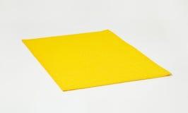 Rectangular yellow placemat Stock Photo