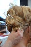 Rectification de cheveu photos stock