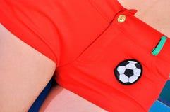 Rectification du football Photo stock