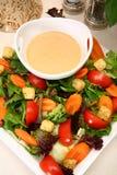 Rectification française et salade d'ail crémeux Images libres de droits