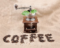 Rectifieuse de café de cru photos libres de droits