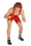Rectifique o lutador isolado da High School. Fotos de Stock Royalty Free