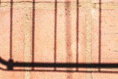 Rectilinear shadows on a clay tile Royalty Free Stock Photos
