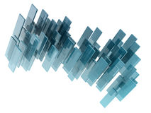 Rectngles de vidro Fotografia de Stock