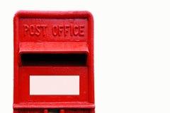 Rectángulo británico del poste Imagen de archivo libre de regalías