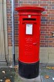 Rectángulo británico típico del poste Fotografía de archivo
