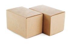 Rectángulo de Carboard Imagen de archivo libre de regalías