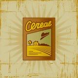 Rectángulo de cereal retro Foto de archivo libre de regalías