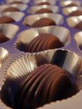 Rectángulo de chocolate Fotografía de archivo
