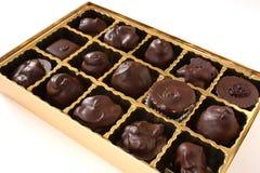 Rectángulo de chocolates Fotos de archivo