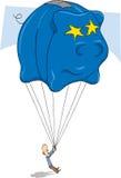 Rectángulo de dinero azul Fotografía de archivo libre de regalías