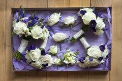 Rectángulo de flores de la boda Foto de archivo