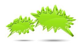 Rectángulo de la charla. Verde Fotografía de archivo