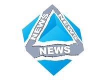Rectángulo de las noticias Foto de archivo