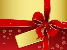 Rectángulo de regalo abstracto - fondo del día de fiesta del vector Fotos de archivo libres de regalías