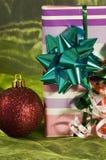 Rectángulo de regalo de la Navidad Foto de archivo