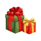 Rectángulo de regalo de la Navidad Imagen de archivo