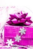 Rectángulo de regalo magenta Imágenes de archivo libres de regalías