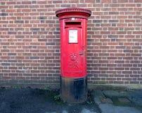 Rectángulo rojo del poste Imagenes de archivo