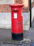 Rectángulo rojo del poste Fotos de archivo