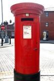 Rectángulo rojo del poste en un St de Londres Imagen de archivo libre de regalías