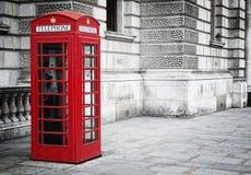 Rectángulo rojo del teléfono Fotografía de archivo libre de regalías