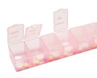 Rectángulo rosado de medicina Fotos de archivo libres de regalías