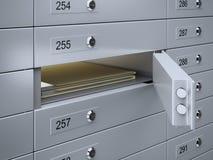 Rectángulos de depósito de seguridad con los documentos Fotografía de archivo