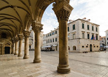 Rector's Palace, Dubrovnik. The architecture of the Rector's Palace is a mix of late Gothic and early Renaissance styles and due to an unfortunate series of Stock Images