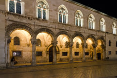 The Rector's Palace In Dubrovnik, Croatia. Night Scene In Dubrovnik's Old Town, Croacia Stock Images