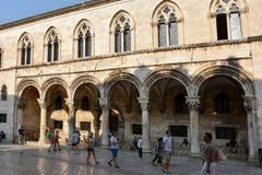 Rector`s palace in Dubrovnik Stock Photo