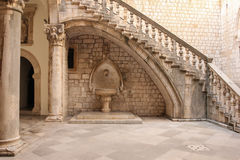 Rector's Palace courtyard. Dubrovnik. Croatia Stock Images