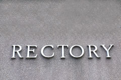 Rectory Sign Stock Photography