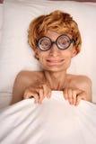 Recue na cama Imagem de Stock