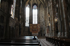 Recueillement (Stephansdom - Vienne - Autriche) Royalty Free Stock Photography