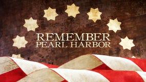 Recuerde el Pearl Harbor Madera Imagen de archivo libre de regalías