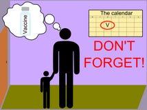 Recuerde sobre la vacunación Fotografía de archivo libre de regalías