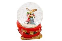 Recuerdo de la Navidad, ciervo bajo los copos de nieve Imagen de archivo